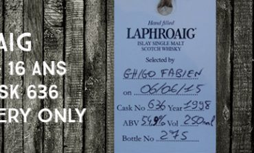 Laphroaig - 1998/2015 - 54,9% - Cask 636 -  OB filled at the distillery