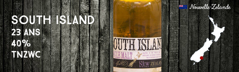 South Island – 23yo – 40 % – The New Zealand Whisky Company