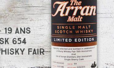 Arran - 1996/2016 - 19yo - Cask 654 - 54,8% - OB for The Whisky Fair