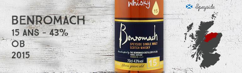 Benromach – 15yo – 43% – OB – 2015