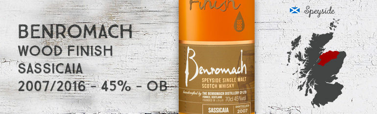 Benromach – Wood Finish – Sassicaia – 2007/2016 – 45% – OB