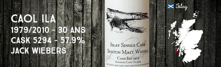 Caol Ila – 1979/2010 – 30yo – Cask 5294 – 57,9% – Jack Wiebers – Prenzlow