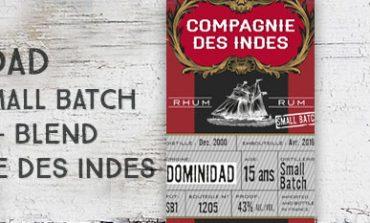 Dominidad - 15yo - SB1- 43% - Compagnie des Indes - small batch - blend - 2016