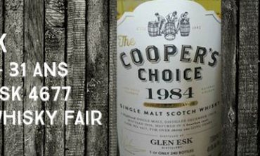 Glen Esk - 1984/2016 - 31yo - Cask 4677 - 49,5% - Cooper's Choice for The Whisky Fair