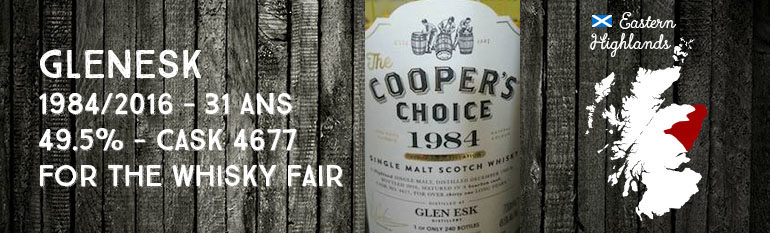 Glen Esk – 1984/2016 – 31yo – Cask 4677 – 49,5% – Cooper's Choice for The Whisky Fair