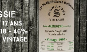 Glenlossie - 1997/2014  - 17yo - Cask 817 + 818 - 46% - Signatory Vintage - The Un-Chillfiltered Collection