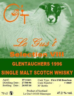 Glentauchers 1996 Cask 4869 Le Gus't