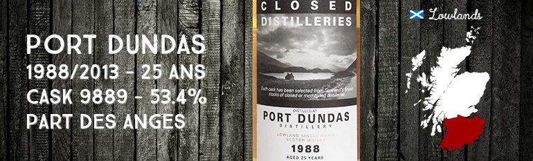 Port Dundas – 1988/2013 – 25yo – Cask 9889 – 53,4% – Part Des Anges