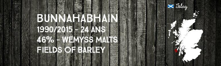 Bunnahabhain – 1990/2015 – 24yo – 46% – Wemyss Malts – Fields of Barley