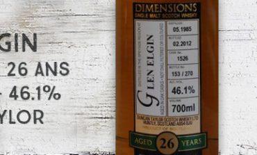 Glen Elgin - 1985/2012 - 26yo - Cask 1526 - 46,1% - Duncan Taylor - Dimensions