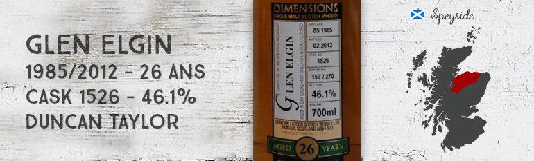 Glen Elgin – 1985/2012 – 26yo – Cask 1526 – 46,1% – Duncan Taylor – Dimensions