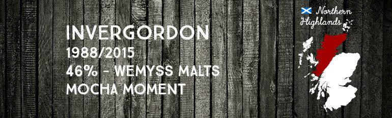 Invergordon – 1988/2015 – 27yo – 46% – Wemyss Malts – Mocha Moment