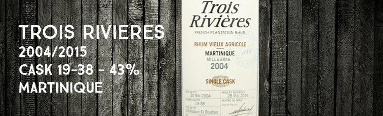 Trois Rivières – 2004/2015 – Cask 19-38 – 43% – Martinique