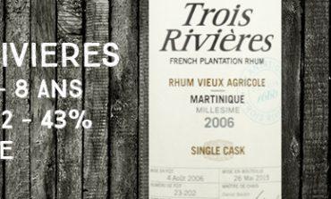 Trois Rivières - 2006/2015 - 8yo - Cask 23-202 - 43% - Martinique