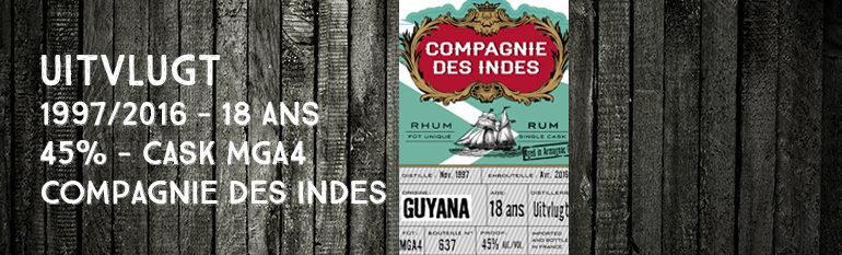 Uitvlugt – 1997/2016 – 18yo – MGA4 – 45% – Compagnie des Indes – Guyana