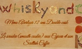 Whiskyandcook - Menu Aberlour 12yo Double cask (3/3) - Dessert : Le scookie (smooth cookie) aux Cajous et son Scottish Coffee