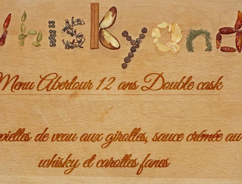 Whiskyandcook – Menu Aberlour 12yo Double cask (2/3) – Plat : Paupiettes de veau aux girolles, sauce crémée au whisky et carottes fanes
