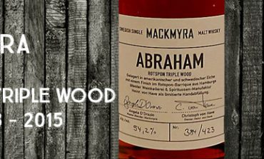 Mackmyra - Abraham - 54,2% - Rotspon Triple Wood - OB - 2015