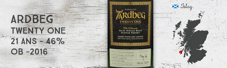 Ardbeg – Twenty One – Committee Release – 21yo – 46% – OB – 2016
