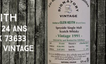 Glen Keith - 1991/2015 - 24yo - 52% - Cask 73633 - Signatory Vintage - The Un-Chillfiltered Collection - for Eifelboys
