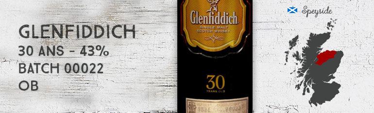 Glenfiddich – 30yo – 43% – batch 00022 – OB