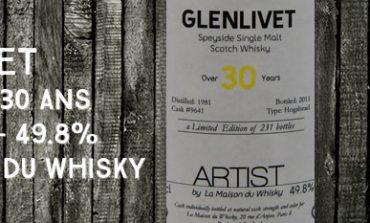 Glenlivet - 1981/2011 - 30yo - Cask 9641 - 49,8% - La Maison du Whisky - Artist