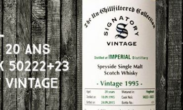 Imperial - 1995/2015 - 20yo - 46% - Cask 50222+23 - Signatory Vintage - The Un-chillfiltered Collection