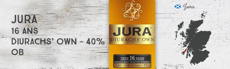 Jura – 16yo – Diurachs' Own – 40% – OB – 2016
