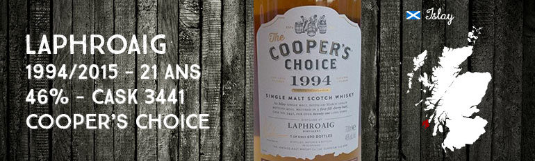 Laphroaig – 1994/2015 – 21yo – 46% – Cask 3441 – Cooper's Choice