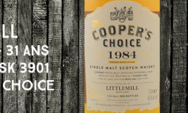 Littlemill - 1984/2016 - 31yo - 48,5% - Cask 3901 - Cooper's Choice for La Boutique Du Chemin