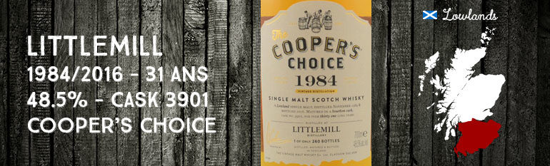 Littlemill – 1984/2016 – 31yo – 48,5% – Cask 3901 – Cooper's Choice for La Boutique Du Chemin