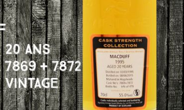 Macduff - 1995/2015 - 20yo - 55% - Cask 7869 + 7872 - Signatory Vintage - Cask Strength Collection