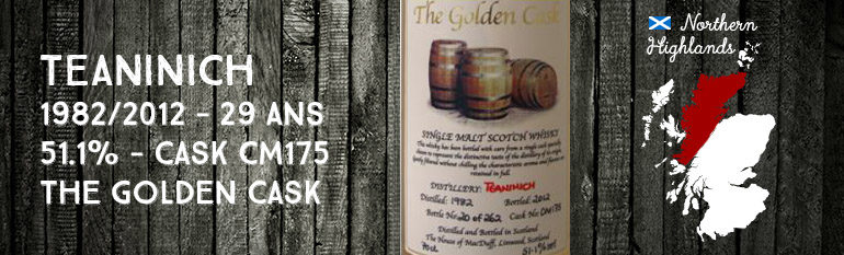 Teaninich – 1982/2012 – 29yo – 51,1% – Cask CM175 – The House Of MacDuff – The Golden Cask