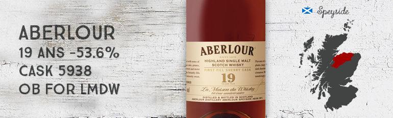 Aberlour – 19yo – 53,6% – Cask 5938 – OB for LMDW 60th Anniversary