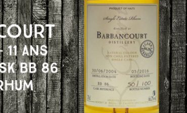 Barbancourt - 2004/2016 - 11yo - 66,2% - Cask BB86 - Whisky & Rhum - L'esprit - Haïti