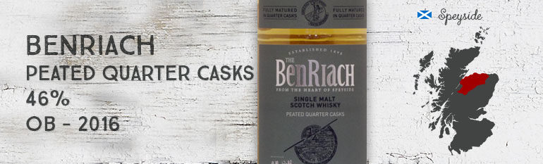 Benriach – Peated Quarter Casks – 46% – OB – 2016
