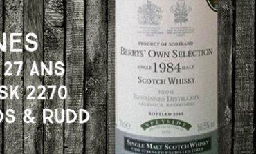 Benrinnes - 1984/2011 - 27yo - 56,5% - Cask 2270 - Berry Bros & Rudd