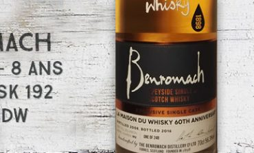 Benromach - 2008/2016 - 8yo - 56,3% - Cask 192 - OB for LMDW 60th Anniversary