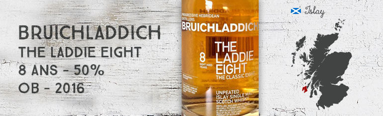 Bruichladdich – The Laddie Eight – 8yo – 50% – OB – 2016