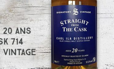 Caol Ila - 1995/2015 - 20yo - 57,3% - Cask 714 - Signatory Vintage for La Maison du Whisky - Straight from The Cask