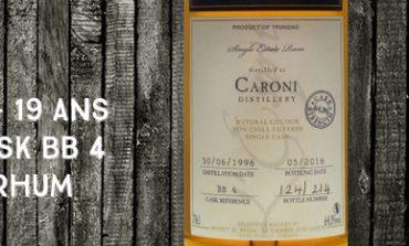 Caroni - 1996/2016 - 19yo - 64,3% - Cask BB4 - Whisky & Rhum - L'esprit - Trinidad & Tobago