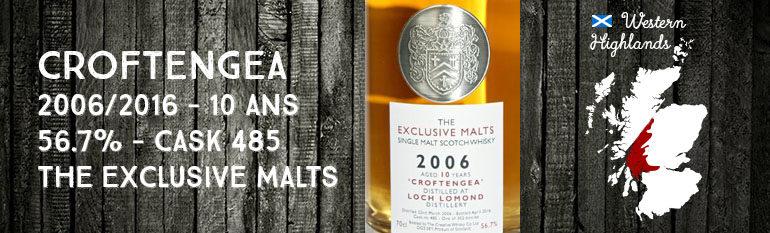 Croftengea – 2006/2016 – 10yo – 56,7% – Cask 485 – Creative Whisky Company – The Exclusive Malts