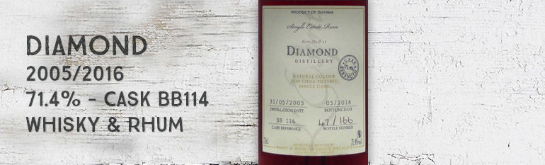 Diamond – 2005/2016 – 71,4% – Cask BB114 – Whisky & Rhum – L'esprit – Guyana