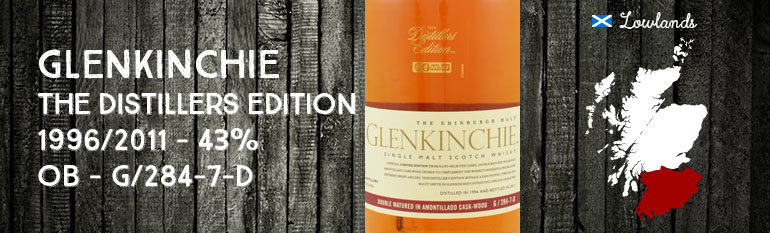 Glenkinchie – The Distillers Edition – 1996/2011 – Amontillado Cask Wood – 43% – OB – G/284-7-D