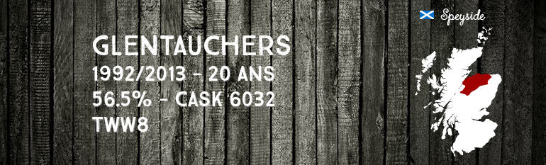 Glentauchers – 1992/2013 – 20yo – 56,5% – Cask 6032 – The Whisky Warehouse n°8