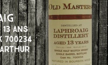 Laphroaig - 1998/2012 - 13yo - 56% - Cask 700234 - James MacArthur - Old Masters