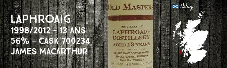 Laphroaig – 1998/2012 – 13yo – 56% – Cask 700234 – James MacArthur – Old Masters