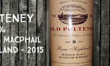 Old Pulteney - 8yo - 40% - Gordon & MacPhail - Rare Highland - 2015