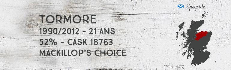 Tormore – 1990/2012 – 21yo – 52% – Cask 18763 – MacKillop's Choice