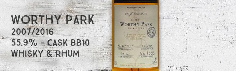 Worthy Park – 2007/2016 – 55,9% – Cask BB10 – Whisky & Rhum – L'esprit – Jamaïque